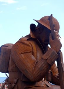 The famous 'Tommy' sculpture, Seaham